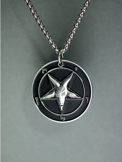 The Devil's Touch - Baphomet Cloisonné Medallion