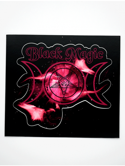 Black Magic Kiss Cut Sticker