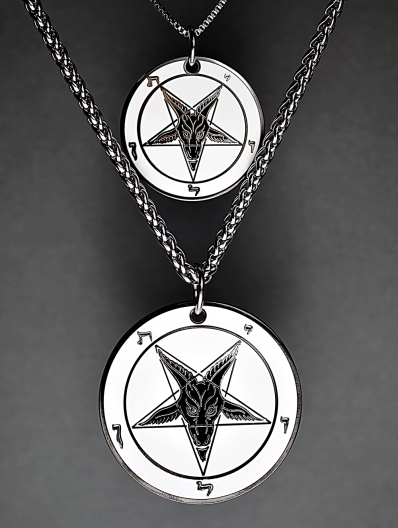 Bone Black - Baphomet Cloisonné Medallion