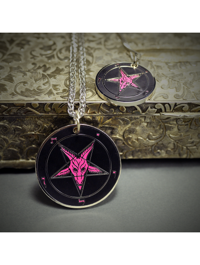 Evening Pink - Baphomet Cloisonné Medallion