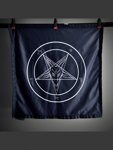 Evening Black Baphomet Banner