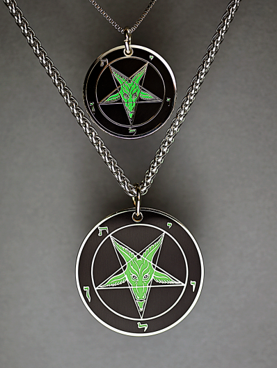Evening Envy - Baphomet Cloisonné Medallion