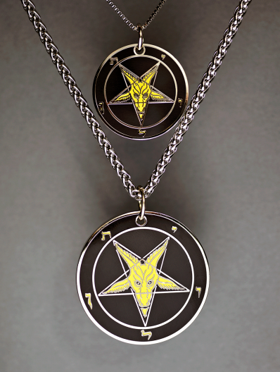 Evening Light - Baphomet Cloisonné Medallion