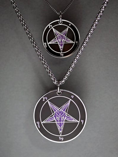 Evening Reign - Baphomet Cloisonné Medallion