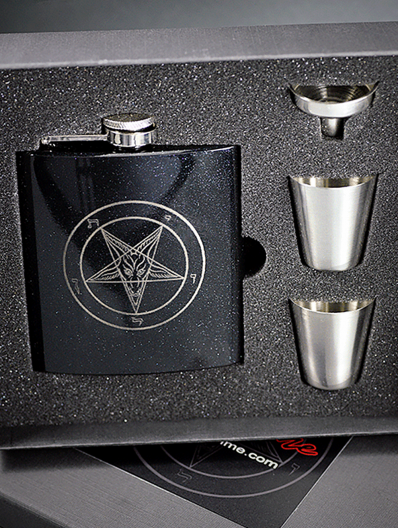 Baphomet Flask Set