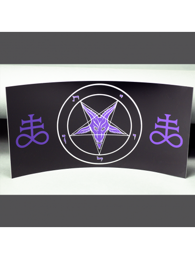 Curved HD Metal Baphomet Plaque