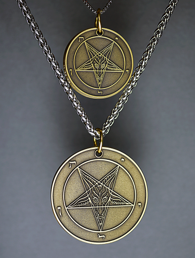 Harvest Moon (The Beast Series) - Baphomet Cloisonné Medallion