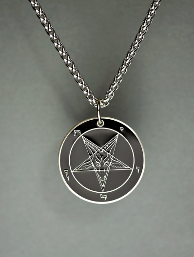 Baphomet - Hell Forged Steel Medallion