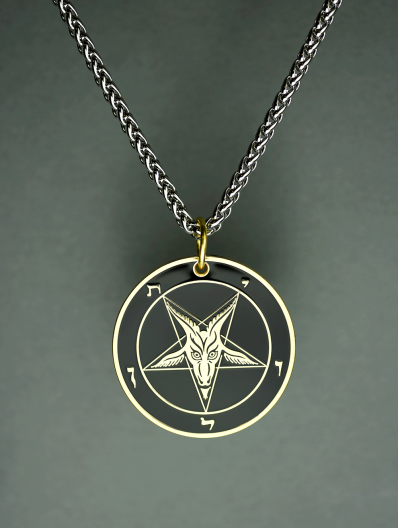 The Satanic Statement - Baphomet Cloisonné Medallion