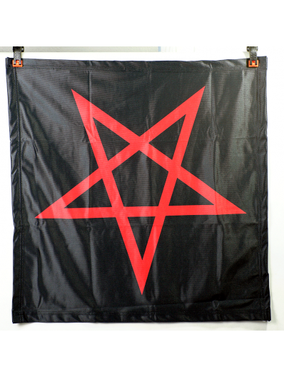 Red Inverted Pentagram Banner