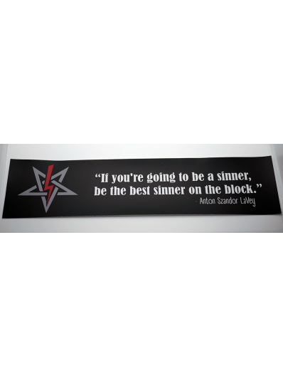 LaVey Sinner Quote Bumper Sticker