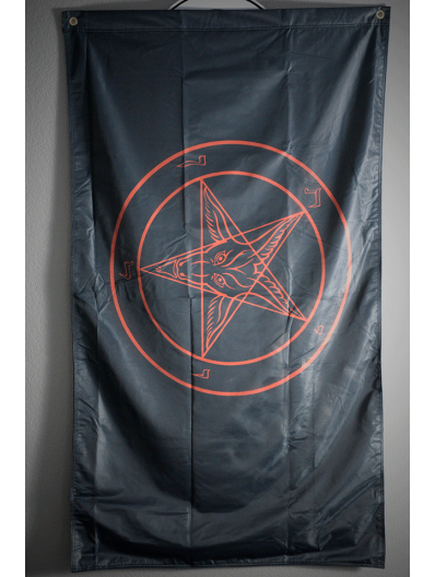 Black & Red Baphomet Flag