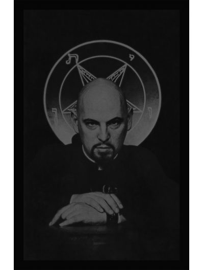 Anton LaVey Satanic Bible Limited Edition Print