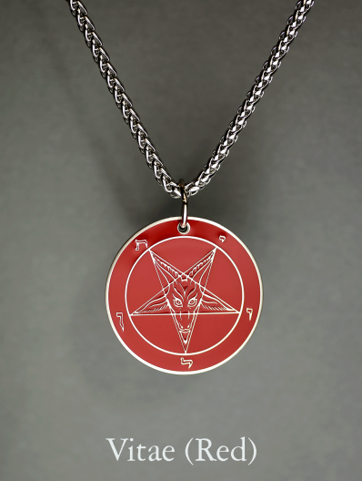 Baphomet Medallion - Hell Forged Steel (1.50)