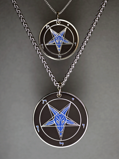 Evening Rage - Baphomet Cloisonné Medallion