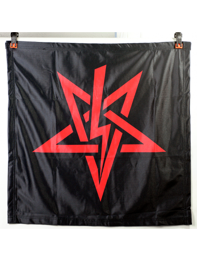 Red LaVey Sigil Banner