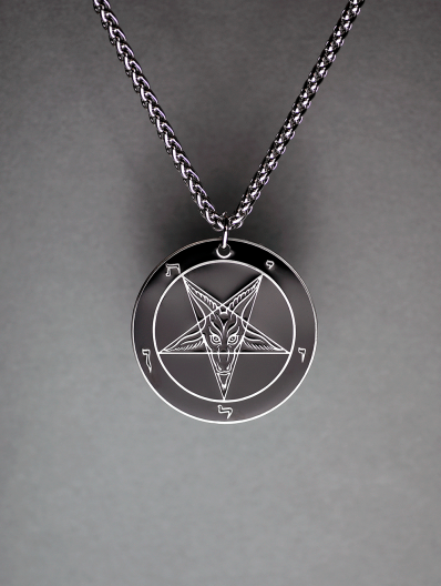 Baphomet Ritual Medallion - Hell Forged Steel (1.75)