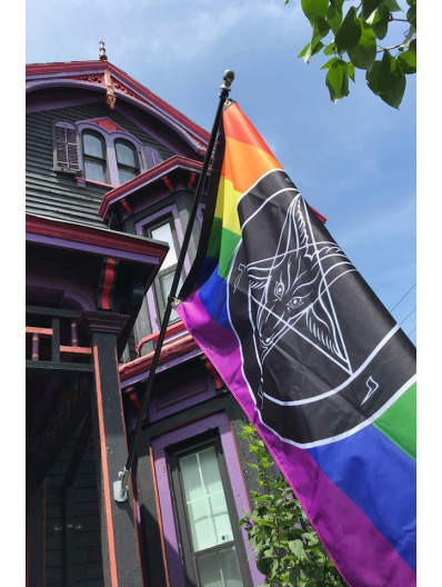 Stonewall Style Baphomet Pride Flag