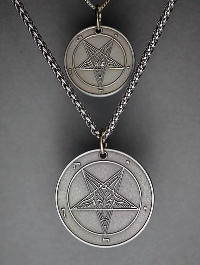 Wolf Moon (The Beast Series) - Baphomet Cloisonné Medallion